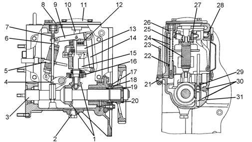 Схема двигателя д-180