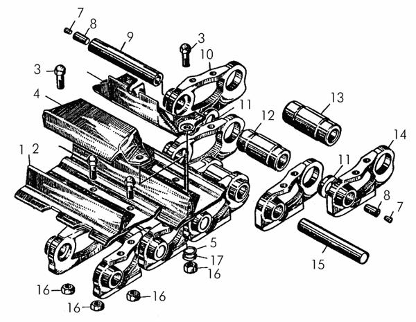 Гусеница на трактор: схема
