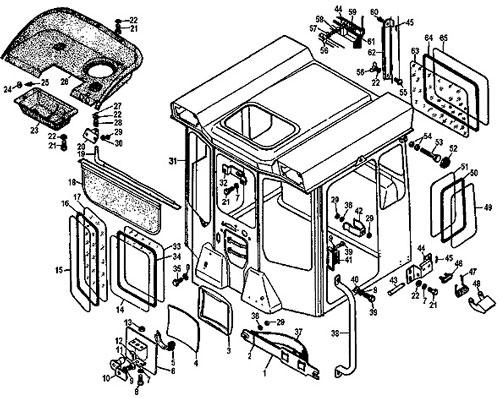 Схема кабины Т170